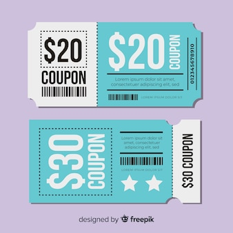 Creative gift  voucher  template