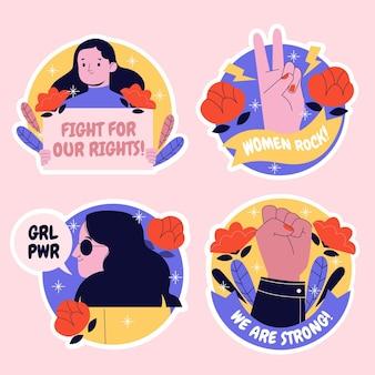 Set di adesivi di potere della ragazza creativa