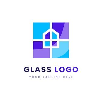 Modello di logo in vetro creativo