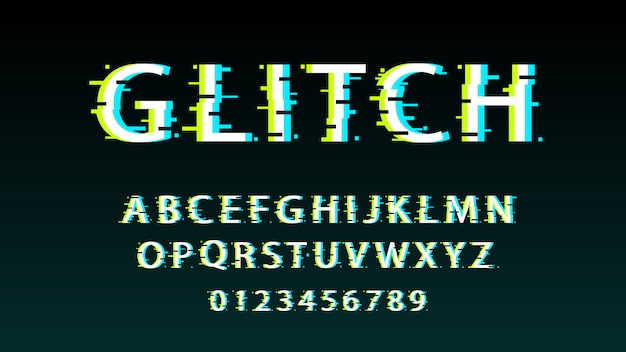 Creative glitch text effect