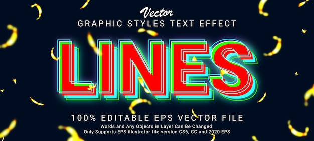 Creative glowing text style effect