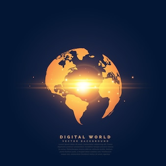 3d world map vectors photos and psd files free download creative golden earth with center light effect gumiabroncs Image collections