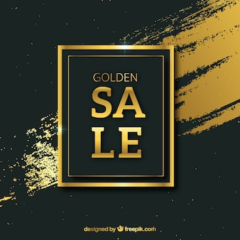 Creative golden sale background