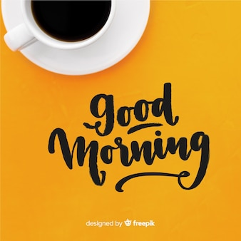 Creative good morning lettering background