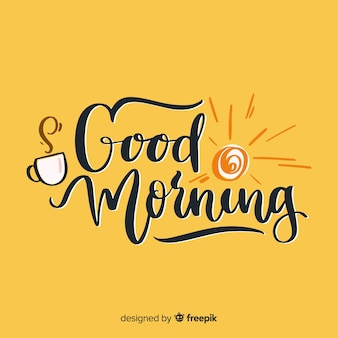 Creative good morning lettering illustration