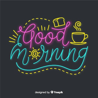 Creative good morning lettering illustration