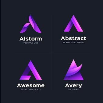Креативный градиент коллекции логотипов