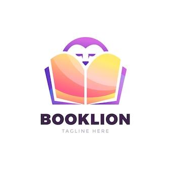 Logo del libro gradiente creativo