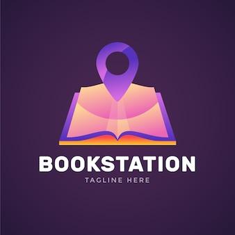 Creative gradient book logo