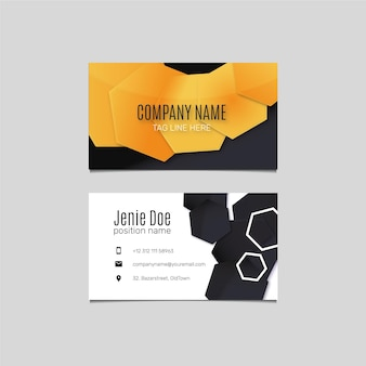 Creative gradient business card front and back