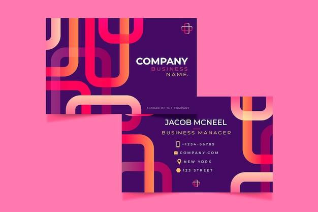 Creative gradient business card
