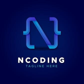 クリエイティブなグラデーションコードのロゴ
