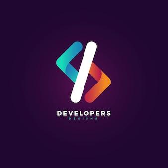 Creative gradient code logo