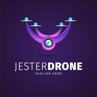 Creative gradient drone logo