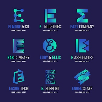 Коллекция логотипов creative gradient e