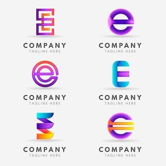 Creative gradient e logo collection