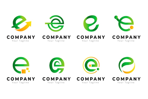 Creative gradient e logo collection