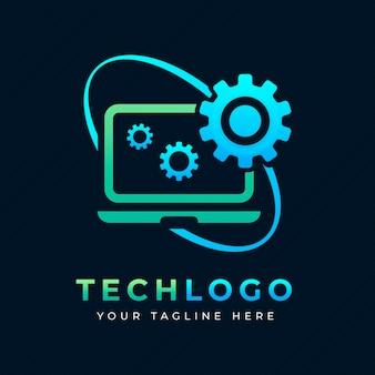 Creative gradient laptop logo template
