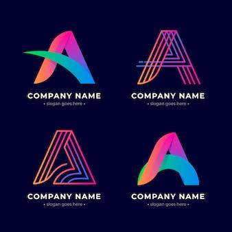 Creative gradient a logo collection