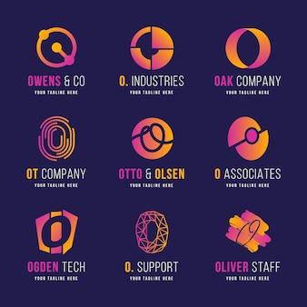 クリエイティブグラデーションoロゴコレクション
