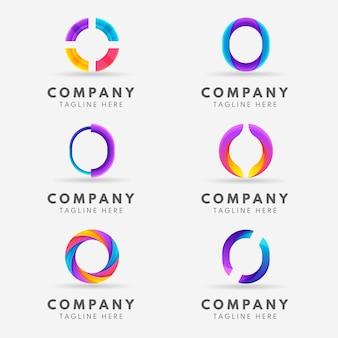 Creative gradient o logo collection