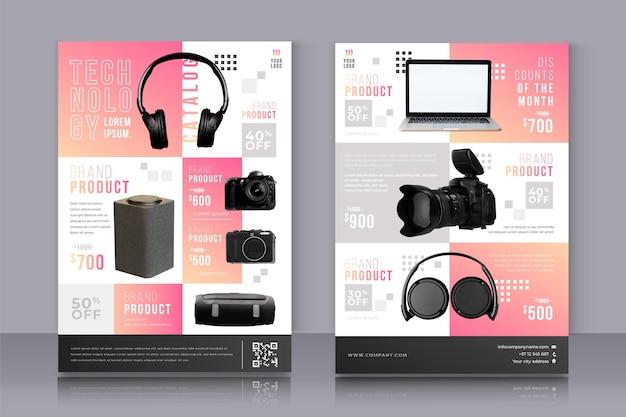 Catalogo prodotti con tecnologia gradiente creativo
