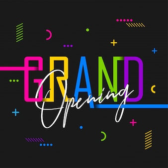Creative grand opening font