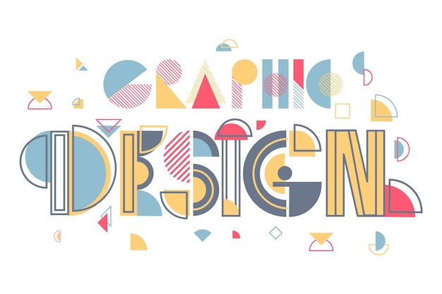 Creative graphic design lettering