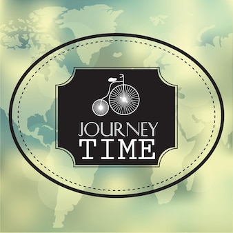 Creative graphic message for your summer design - vector blurred background - journey time