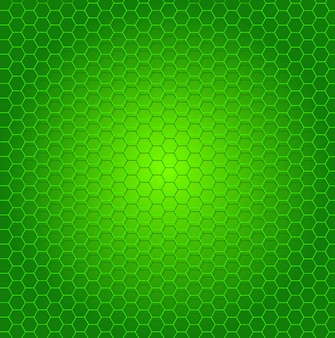 Creative green background in honeycomb shapes