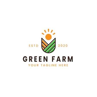 創造的な緑の農場のロゴ
