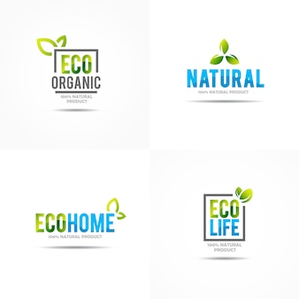 Creative green house concept logo template