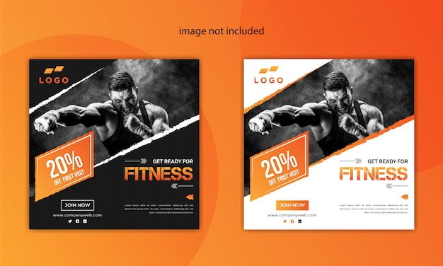 Creative gym and fitness social media post