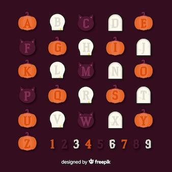 Creative halloween alphabet design