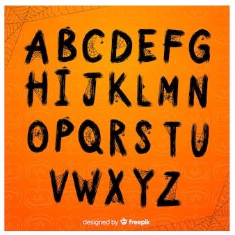 Creative halloween alphabet set