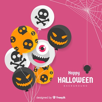 Creative halloween background with balloons