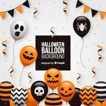 Creative halloween balloon background