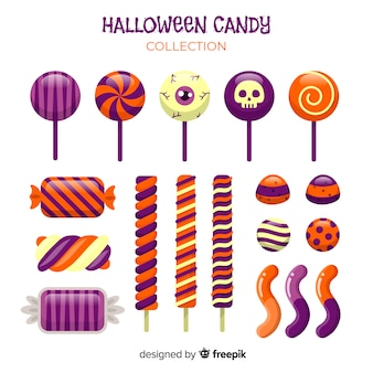 Creative halloween candy collection