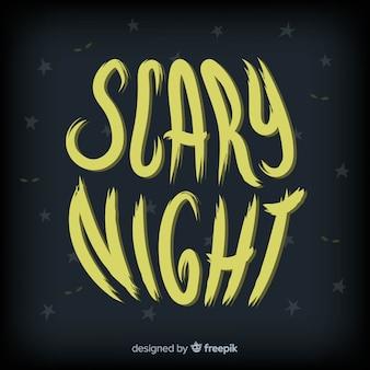 Creative halloween lettering background