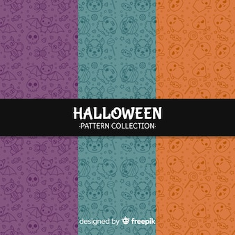 Creative halloween pattern background collection