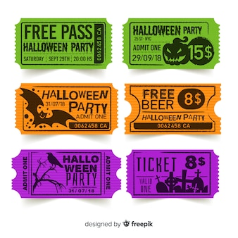 Creative halloween ticket template