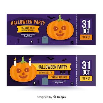 Creative halloween ticket template