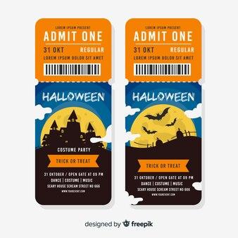Creative halloween tickets