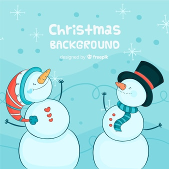 Творческий рисованной рождественский фон