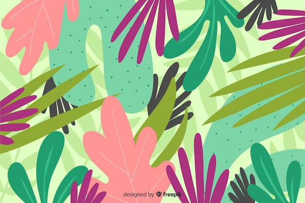 Creative hand drawn floral background