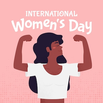 Creative hand drawn international women's day illustrated