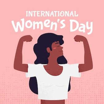 Giornata internazionale della donna disegnata a mano creativa illustrata