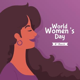 創造的な手描きの国際女性の日が示されています