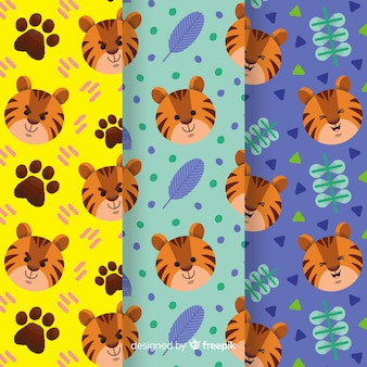 Creative hand drawn tiger pattern