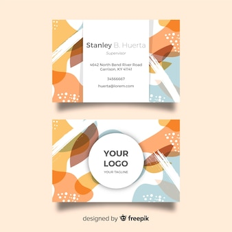Creative hand painted visiting card template